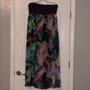 Lane Bryant Summer Maxi Dress- strapless